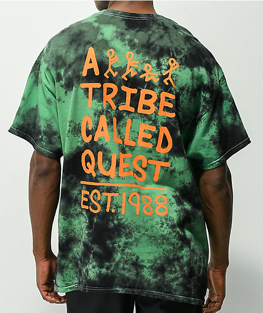 A Tribe Called Quest Stick Figure Green Tie Dye T-Shirt