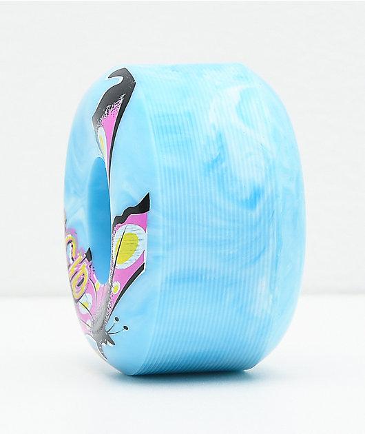 Acid Butterfly Swirl Blue 53mm 99a Skateboard Wheels