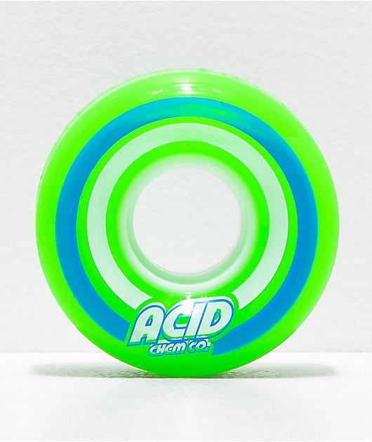 Acid Pods 55mm 86a Green ruedas de skate verdes