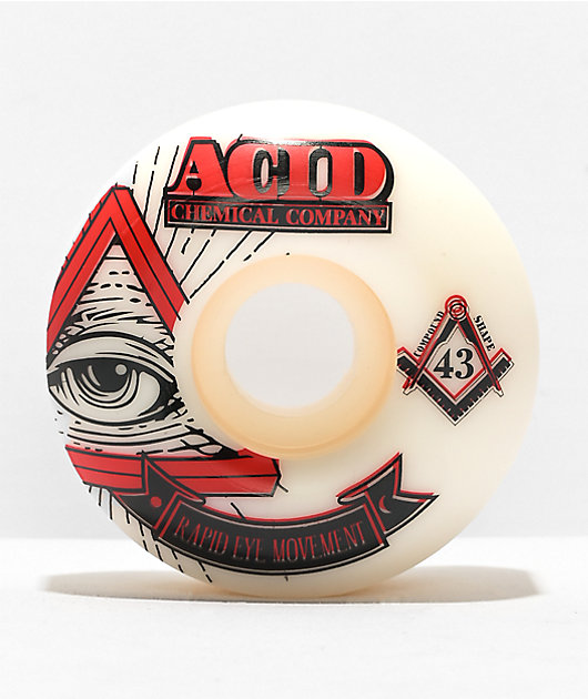 Acid Pyramid REM Formula 54mm 99a White Skateboard Wheels