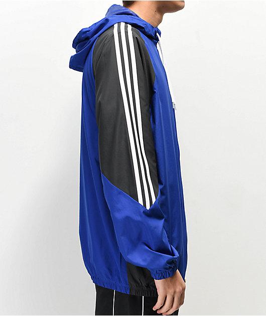 Absoluto diente oro  Adidas Insley chaqueta cortavientos azul, negra y blanca | Zumiez