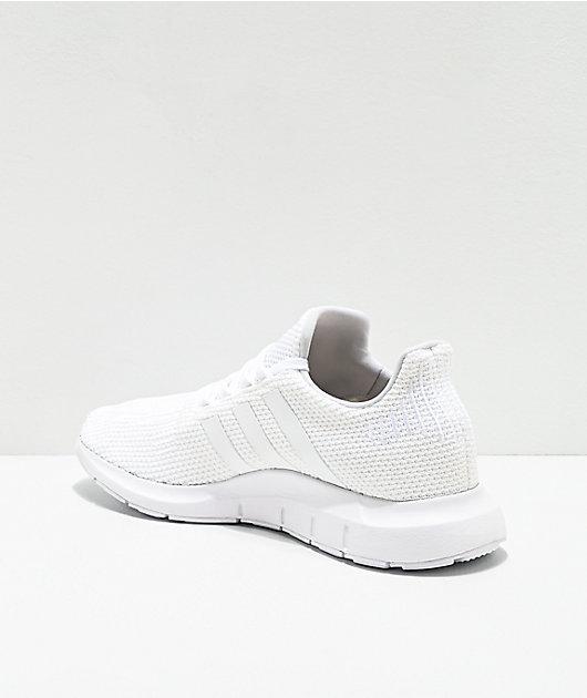 Adidas Mens Swift Run All White Shoes