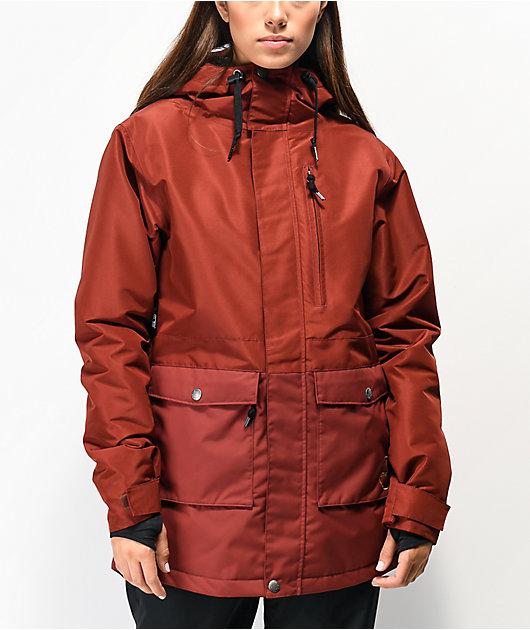 Airblaster Stay Wild Parka Oxblood 10K chaqueta de snowboard roja