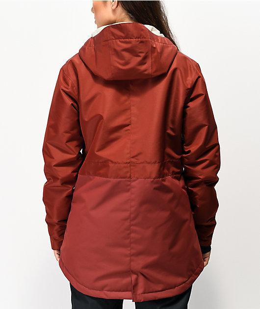 Airblaster Stay Wild Parka Oxblood Red 10K Snowboard Jacket