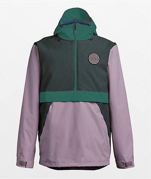 Airblaster Trenchover Spruce & Lavender 15K Snowboard Jacket