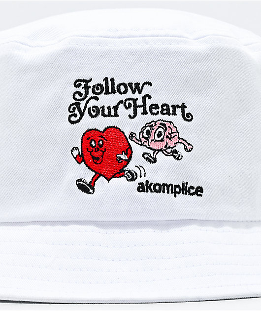 Akomplice Follow Your Heart White Bucket Hat
