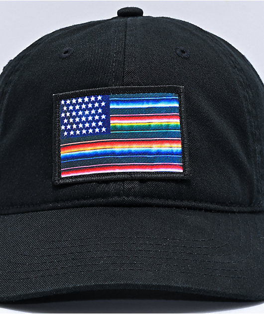 Akomplice Mi Bandera Black Strapback Hat