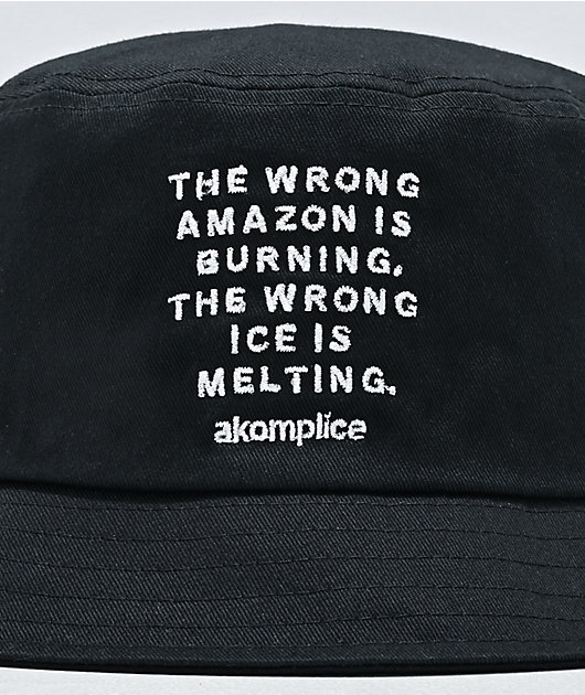 Akomplice Wrong Amazon Black Bucket Hat