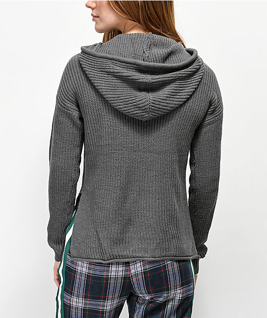 Almost Famous Charcoal Hooded Sweater