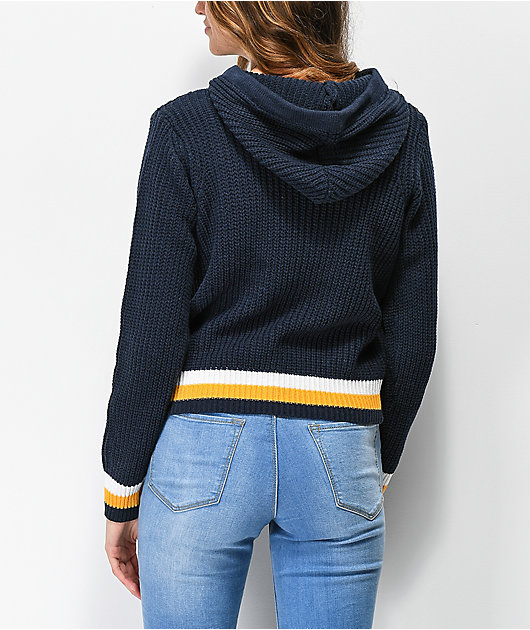 Almost Famous Danny Blue Hooded Sweater