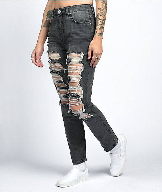 Almost Famous Distressed Grey Skinny Jeans