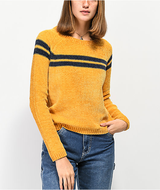 Almost Famous Sandy Stripe Yellow Sweater