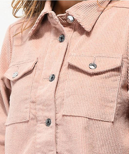 Almost Famous chaqueta corta de pana rosa