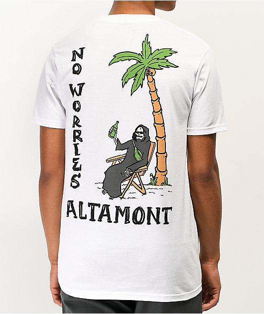 Altamont No Worries camiseta blanca
