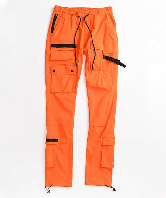 American Stitch Orange Cargo Pants