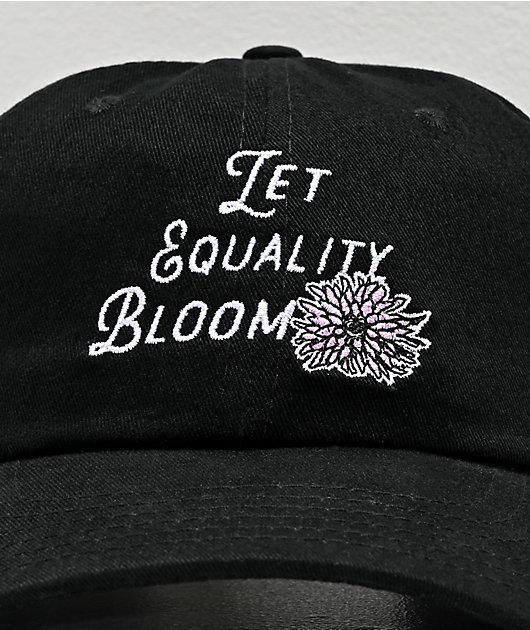 Amplifier Let Equality Bloom Black Strapback Hat