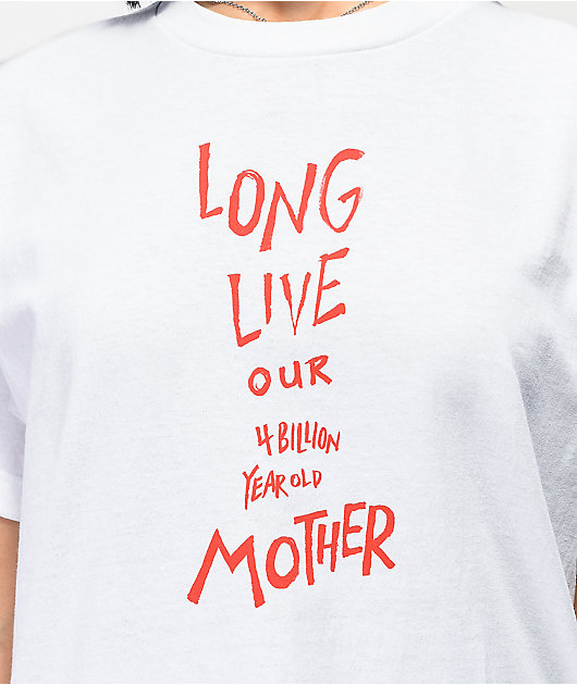 Amplifier Long Live Mother White T-Shirt