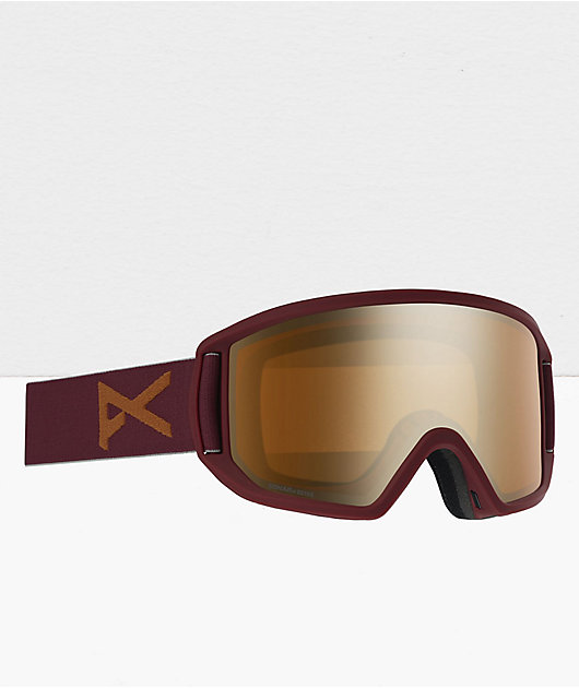 Anon Relapse MFI Maroon & Bronze Snowboard Goggles