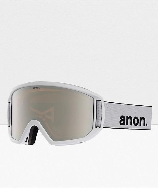 Anon Relapse White & Sonar Silver Snowboard Goggles
