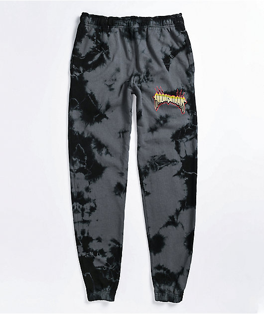 Anonymous Black Tie Dye Sweatpants