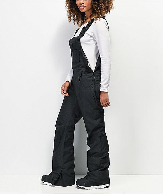 Aperture Adventure Black Denim 10K Snowboard Bib Pants