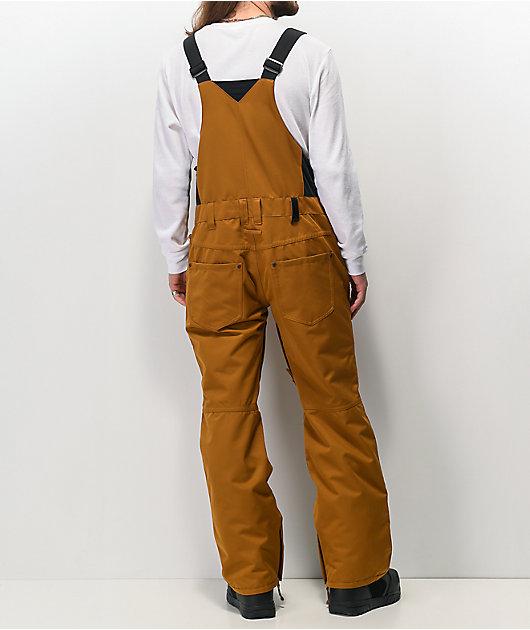 Aperture Bibber Tobacco & Black 10K Snowboard Bib Pants