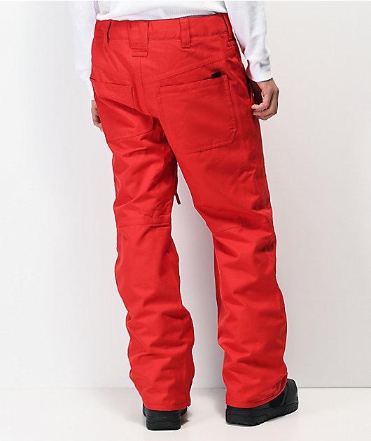 Aperture Boomer 10K pantalones de snowboard rojos