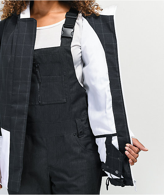Aperture Capitol White & Black Plaid 10K Snowboard Jacket