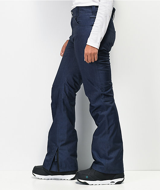 Aperture Crystaline Navy Denim 10K Snowboard Pants