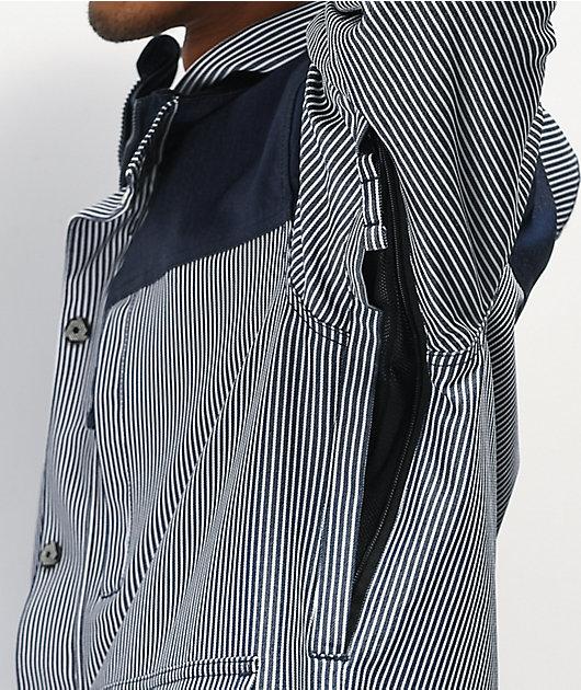 Aperture Double Diamond Rail Navy Stripe 10K Snowboard Jacket