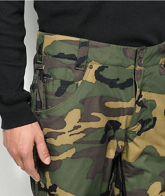 Aperture Green Line Camo 10K Snowboard Pants