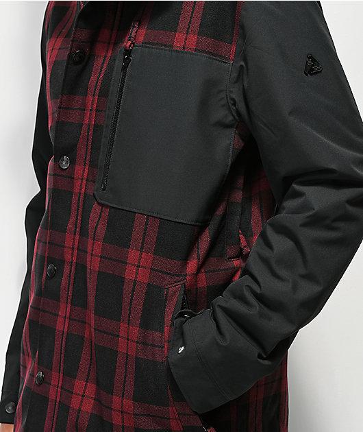 Aperture Stratus Varsity Red Plaid 10K Snowboard Jacket