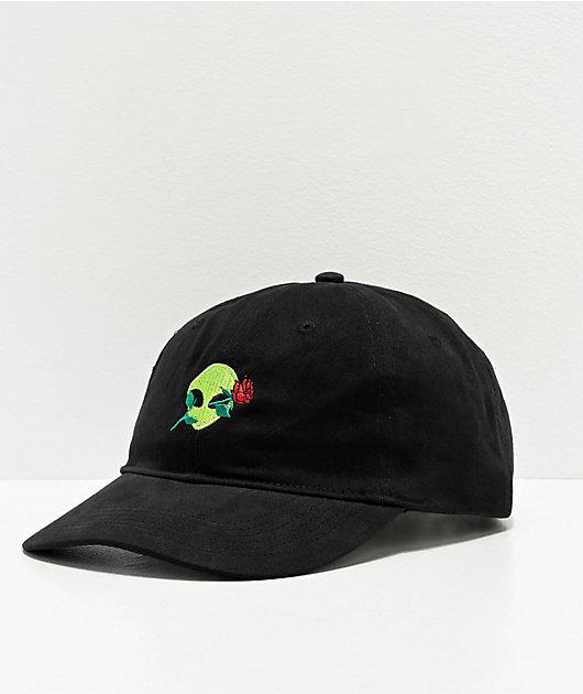 Artist Collective Alien Rose Black Strapback Hat