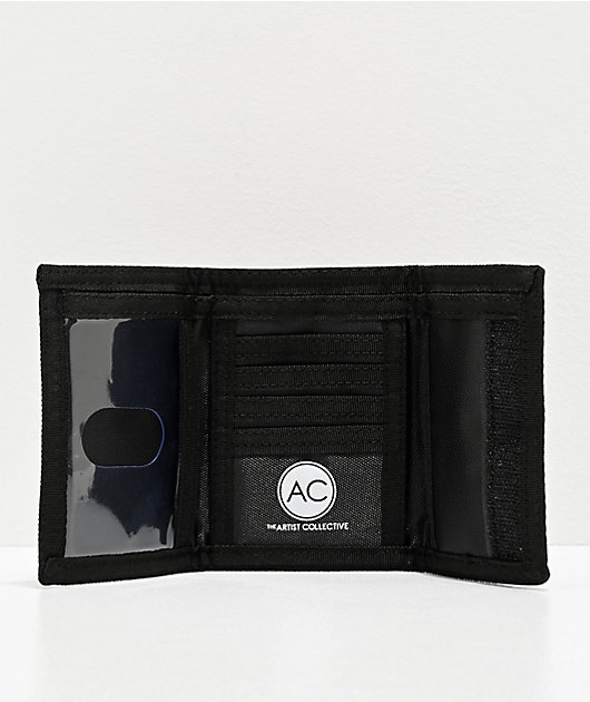 Artist Collective DAB Drugs Are Bad Black Trifold Wallet