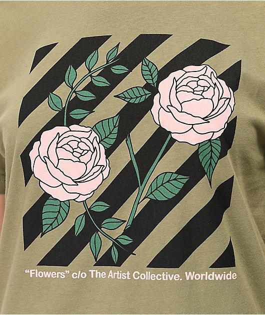 Artist Collective Flowers Pistachio camiseta