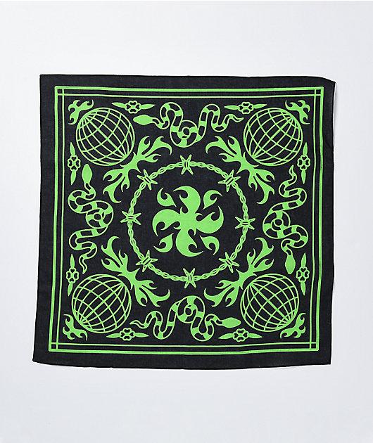 Artist Collective Globe Black & Lime Bandana