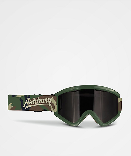 Ashbury Blackbird Triangle Army Snowboard Goggles