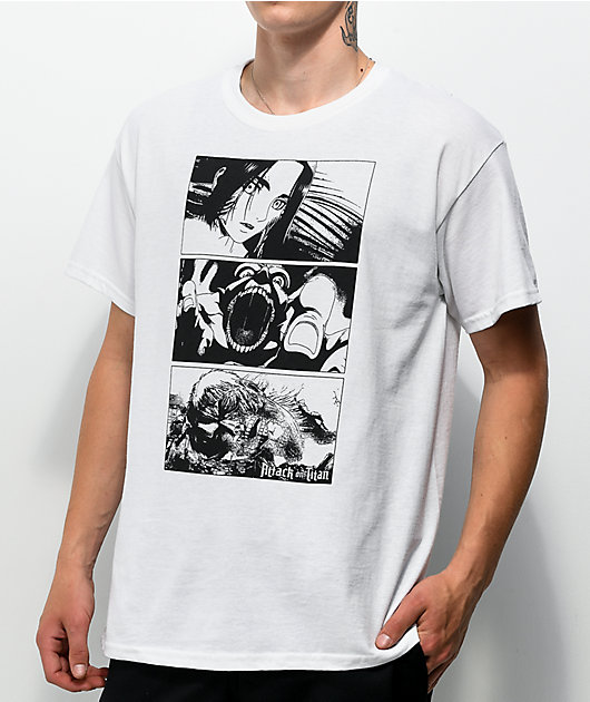 Attack On The Titan Frames White T-Shirt
