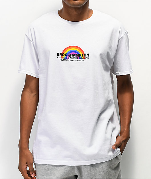 BROCKHAMPTON Rainbow White T-Shirt
