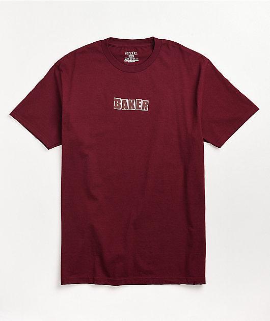 Baker Brand Logo Burgundy T-Shirt