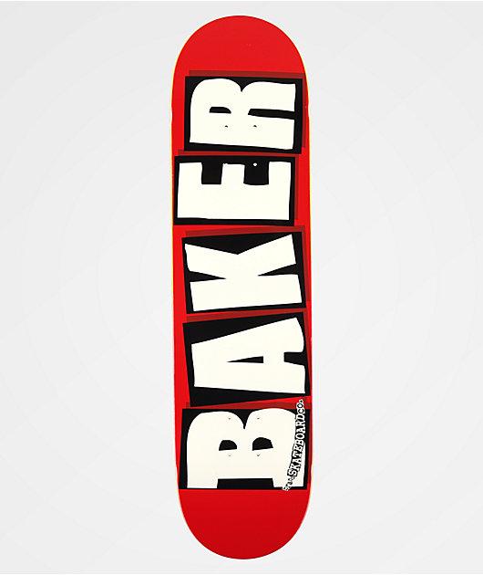 Baker Brand Logo White & Red 8.0