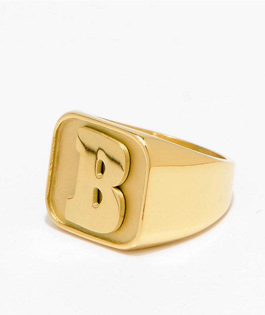 Baker Capital B Gold Ring