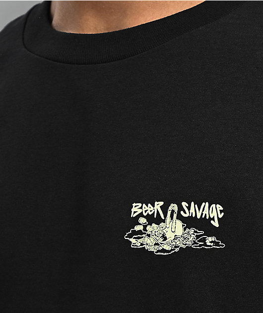 Beer Savage Endless Party Black T-Shirt