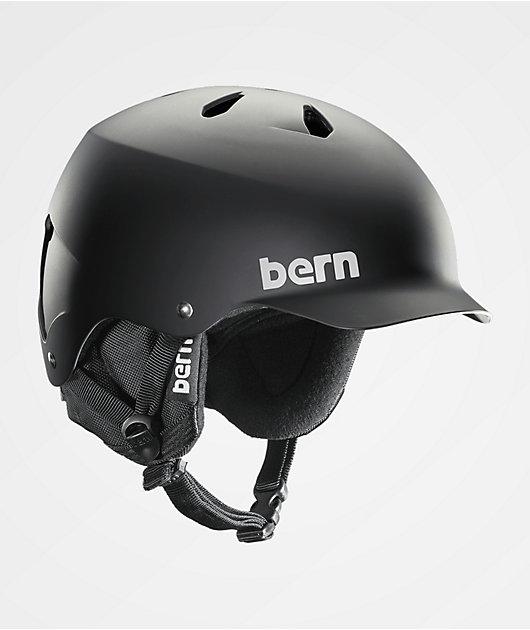 Bern Watts EPS Audio Matte Black Snowboard Helmet