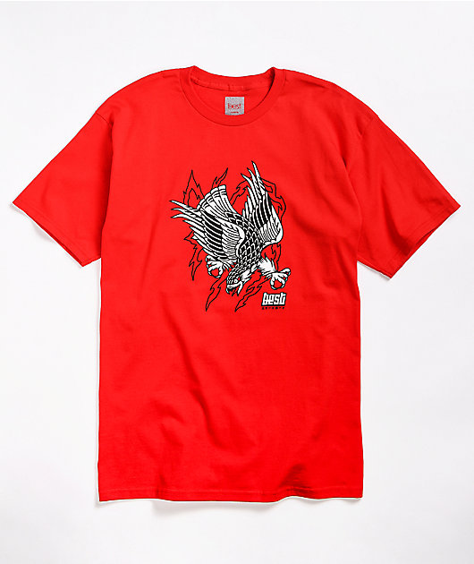 Best Eagle camiseta roja