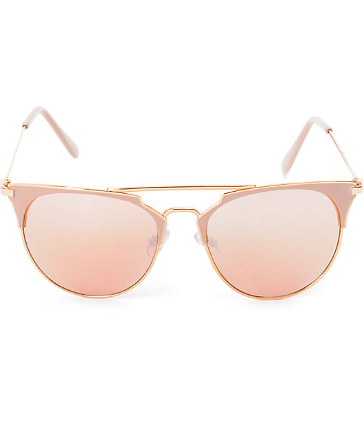 Big Shot Nude & Rose Gold Sunglasses