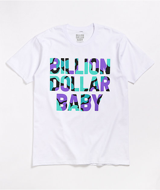 Billion Dollar Baby Grape Camo White T-Shirt