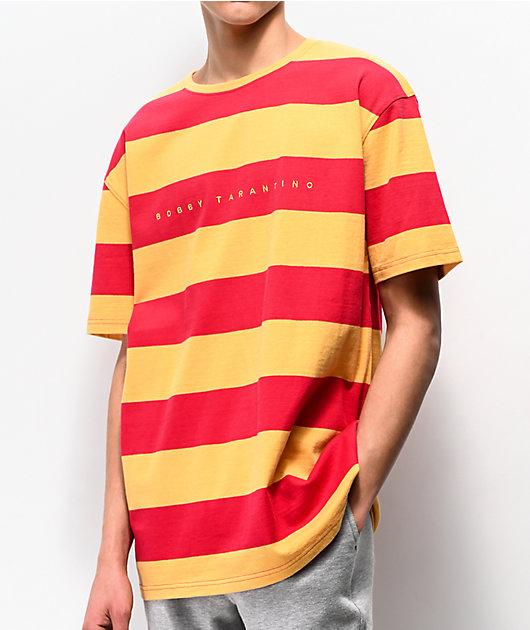 Bobby Tarantino by Logic Red & Yellow Striped T-Shirt