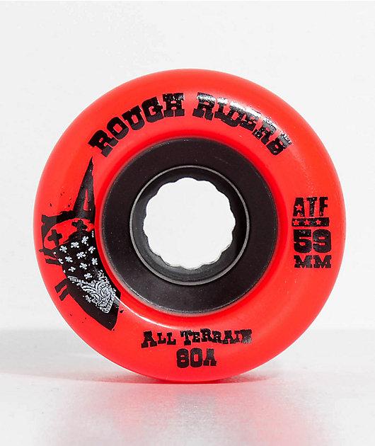 Bones ATF Roughriders 59mm Red Skateboard Wheels