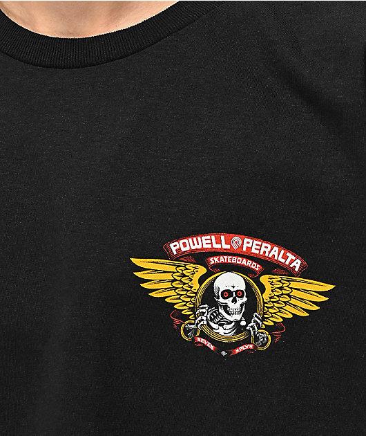 Bones Powell Peralta Winged Ripper Black T-Shirt